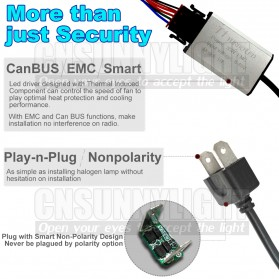 Lampu Mobil Headlight LED 9005 HB3 SMD 2 PCS - White - 6