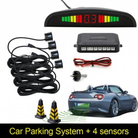 Parktronic Radar LED dengan 4 Sensor Parkir Mobil - LH811A8R62 - Black