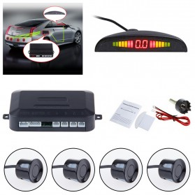 Parktronic Radar LED dengan 4 Sensor Parkir Mobil - LH811A8R62 - Black - 3