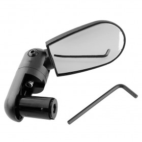 DUUTI Kaca Spion 360 Rotate Handlebar Sepeda 1PCS - LY4437 - Black