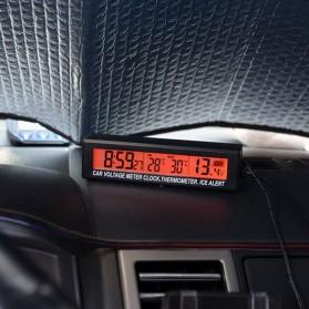 Jam Digital LCD Mobil dengan Thermometer + Battery Voltage Monitor - EC88 - Black - 3