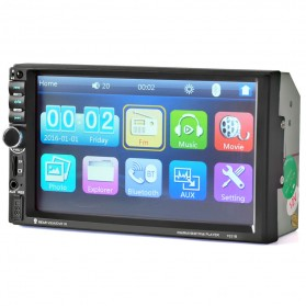 MP5 Media Player Monitor Mobil LCD Touchscreen 7 Inch - Black - 1