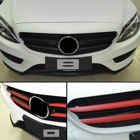 Stiker Vinyl Carbon Fiber Mobil Car Wrap 3D Multifungsi 127 x 30 CM - Black - 4