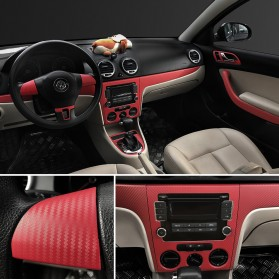 Stiker Vinyl Carbon Fiber Mobil Car Wrap 3D Multifungsi 127 x 30 CM - Black - 7