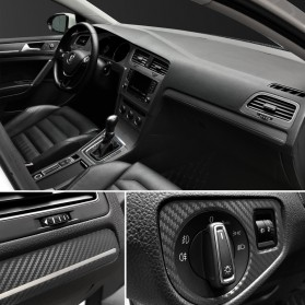 Stiker Vinyl Carbon Fiber Mobil Car Wrap 3D Multifungsi 127 x 30 CM - Black - 8