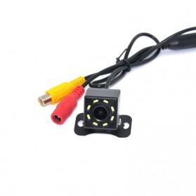 Kamera Belakang Mobil Car Rearview Camera 8 LED Nightvision - S8 - Black - 3