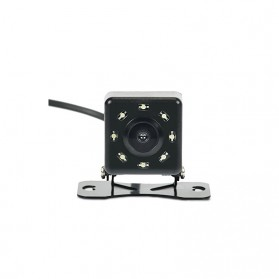 Kamera Belakang Mobil Car Rearview Camera 8 LED Nightvision - S8 - Black - 4