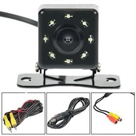 Kamera Belakang Mobil Car Rearview Camera 8 LED Nightvision - S8 - Black - 8
