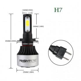 NightEye Lampu Mobil Headlight LED H7 COB 2 PCS - Black - 2