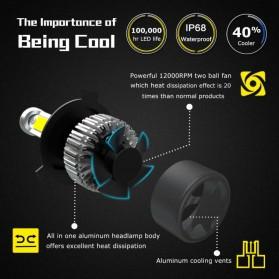 NightEye Lampu Mobil Headlight LED H7 COB 2 PCS - Black - 4