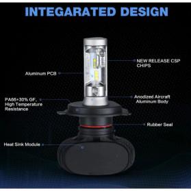 Nighteye Lampu Mobil Headlight LED H4 CSP 2 PCS - Black - 2