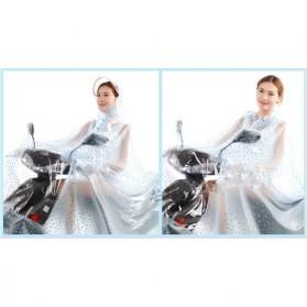 Jas Hujan Motor Transparan Full Cover - XXXXL - Blue - 2