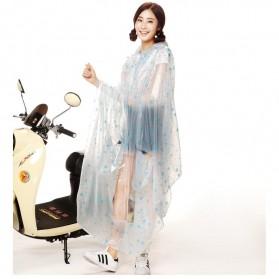Jas Hujan Motor Transparan Full Cover - XXXXL - Blue - 5