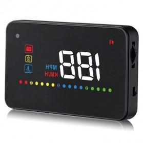 Digital Car LED  Head Up Display HUD OBD2 Interface - A200 - Black