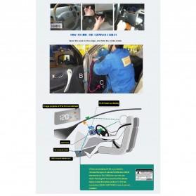 Digital Car LED  Head Up Display HUD OBD2 Interface - A200 - Black - 2