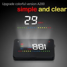 Digital Car LED  Head Up Display HUD OBD2 Interface - A200 - Black - 3