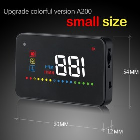 Digital Car LED  Head Up Display HUD OBD2 Interface - A200 - Black - 4