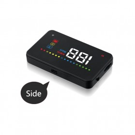 Digital Car LED  Head Up Display HUD OBD2 Interface - A200 - Black - 7