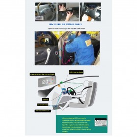 Digital Car LED  Head Up Display HUD OBD2 Interface - A200 - Black - 11