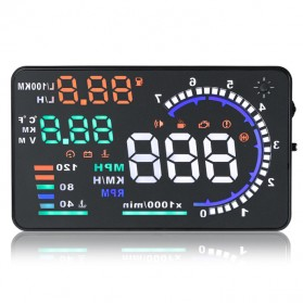 Digital Car LED HUD OBD2 Interface 5.5 Inch - A8 - Black