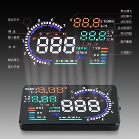 Digital Car LED HUD OBD2 Interface 5.5 Inch - A8 - Black - 2