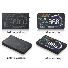 Digital Car LED HUD OBD2 Interface 5.5 Inch - A8 - Black - 8