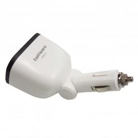Taffware Dual USB Car Charger 2 Port dengan 2 Cigarette Plug - T2 - White - 2