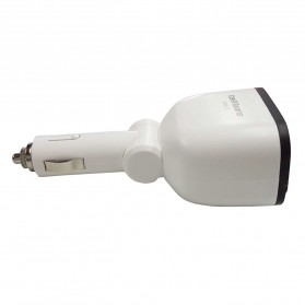 Taffware Dual USB Car Charger 2 Port dengan 2 Cigarette Plug - T2 - White - 4