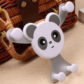 Panda Smartphone Universal Air Vent Car Holder - Silver