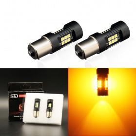 Lampu Mobil Headlight LED P21W 1156 BA15S 3030 2 PCS - Yellow
