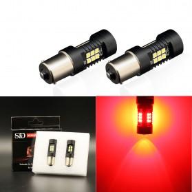 Lampu Mobil Headlight LED P21W 1156 BA15S 3030 2 PCS - Red