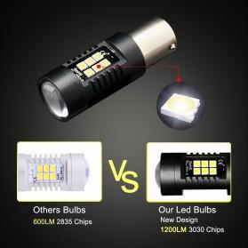 Lampu Mobil Headlight LED P21W 9005 3030 2 PCS - White - 5