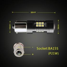 Lampu Mobil Headlight LED P21W 9005 3030 2 PCS - White - 6