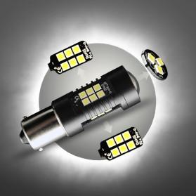 Lampu Mobil Headlight LED P21W 9005 3030 2 PCS - White - 8