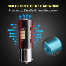 Lampu Mobil Headlight LED P21W 9006 3030 2 PCS - Yellow - 4