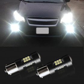 Lampu Mobil Headlight LED P21W 9006 3030 2 PCS - Yellow - 7