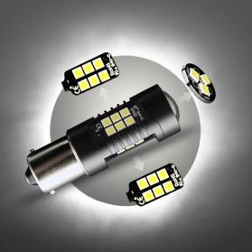 Lampu Mobil Headlight LED P21W 9006 3030 2 PCS - Yellow - 8