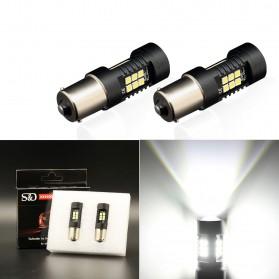 Lampu Mobil Headlight LED P21W 9006 3030 2 PCS - White