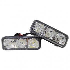 Lampu Mobil LED Anti Air Car Light Daytime Running Waterproof 1 Pair - Black