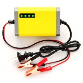 Taffware Charger Aki Motor 12V 2A with LED Indicator - FBC1202D - Yellow