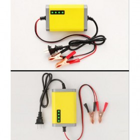 Taffware Charger Aki Motor 12V 2A with LED Indicator - FBC1202D - Yellow - 2