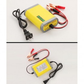 Taffware Charger Aki Motor 12V 2A with LED Indicator - FBC1202D - Yellow - 3