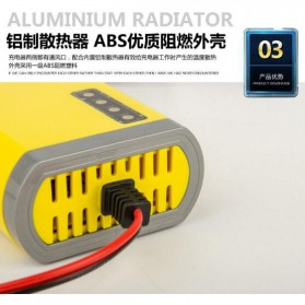 Taffware Charger Aki Motor 12V 2A with LED Indicator - FBC1202D - Yellow - 4