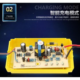 Taffware Charger Aki Motor 12V 2A with LED Indicator - FBC1202D - Yellow - 5