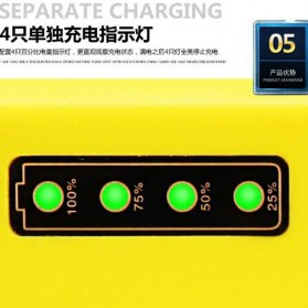 Taffware Charger Aki Motor 12V 2A with LED Indicator - FBC1202D - Yellow - 6
