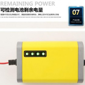 Taffware Charger Aki Motor 12V 2A with LED Indicator - FBC1202D - Yellow - 7