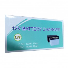 Taffware Charger Aki Motor 12V 2A with LED Indicator - FBC1202D - Yellow - 12