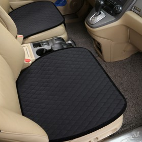 Cover Jok Kursi Mobil Non Slip Keep Warm Luxury Cushion - Black