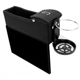 KWHEEL Kotak Organizer Penyimpanan Barang Mobil Seat Gap Filler Master - CL-005 - Black