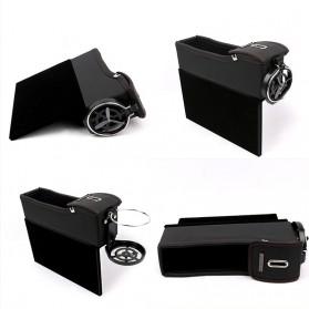 KWHEEL Kotak Organizer Penyimpanan Barang Mobil Seat Gap Filler Master - CL-005 - Black - 2